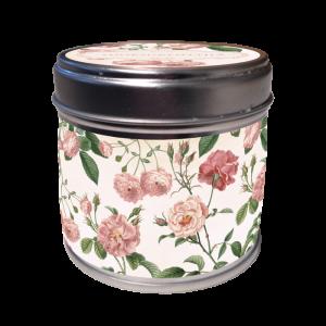 Ruusun tuoksuinen käsintehty kynttilä