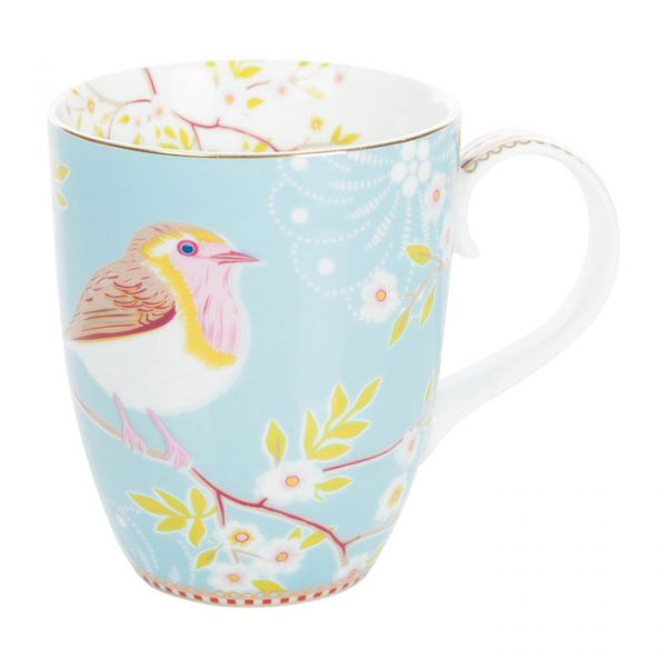PIP Studio vaaleansininen lintu muki