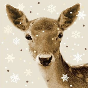 Suloinen talvinen bambi servetti