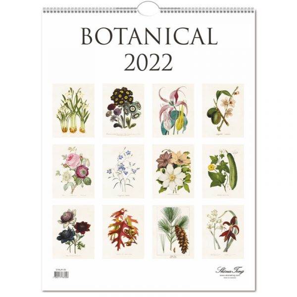 kasvitaulu seinäkalenteri botanical sköna ting