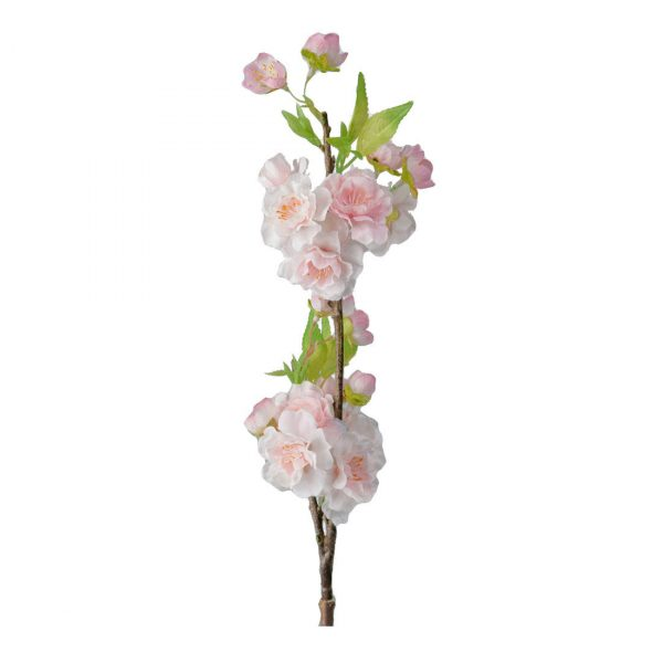 Vaaleanpunainen kukkiva kirsikkapuun oksa tekokukka