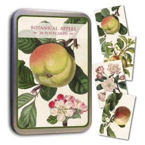 peltirasia jossa omena-aiheisia postikortteja