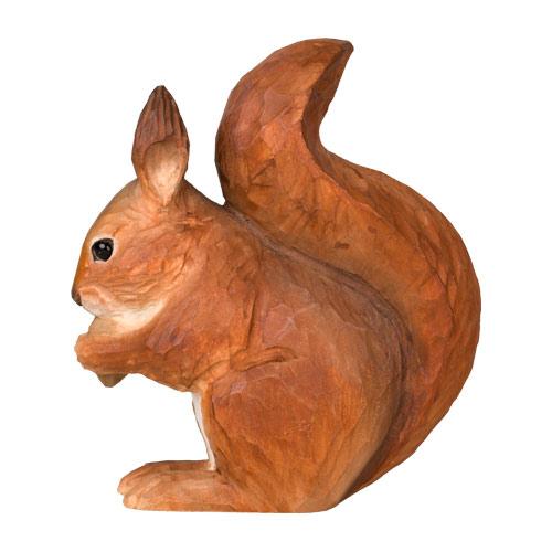 Puinen orava koriste sivultapäin