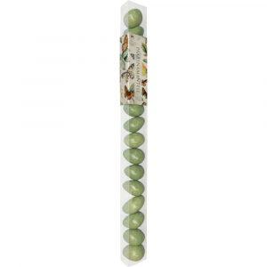 päärynän makuiset vihreät suklaamantelit perhoskuvioisessa paketissa