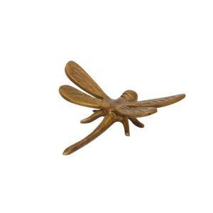 pieni messinkinen sudenkorento puutarhakoriste