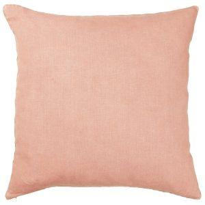vaaleanpunainen pellavatyynynpäällinen