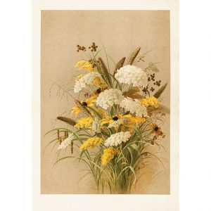 syksyinen kukkakimppu juliste