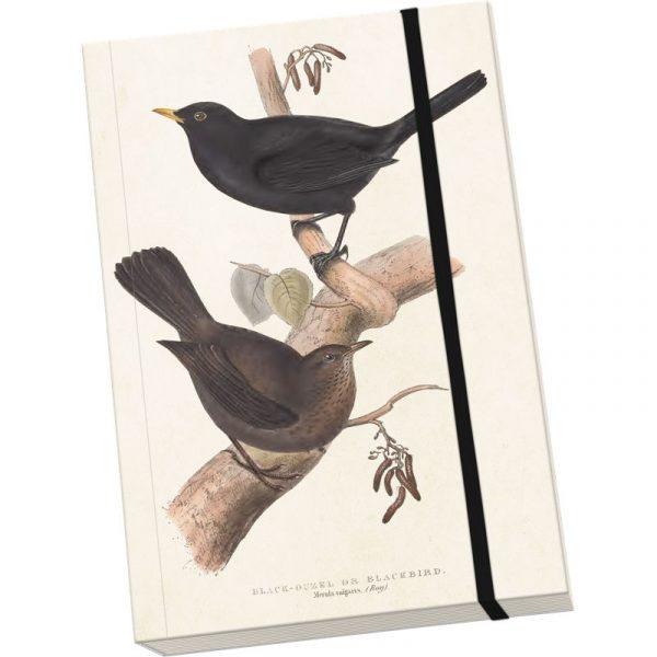 lintukuvioinen muistikirja