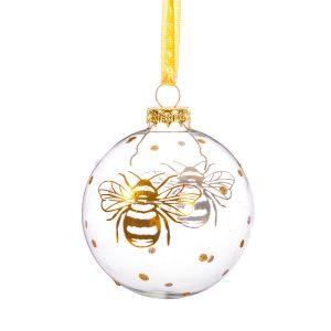 lasinen mehiläisjoulupallo