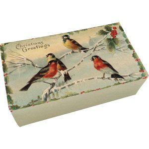joulu aiheinen saippua lintukuvioilla